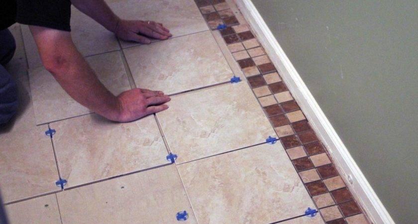 Install Bathroom Floor Tile Tos Diy