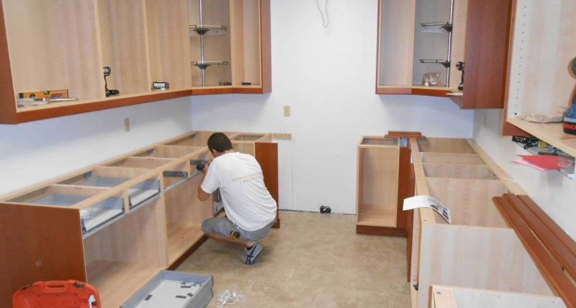 Install Kitchen Wall Base Cabinets Builder