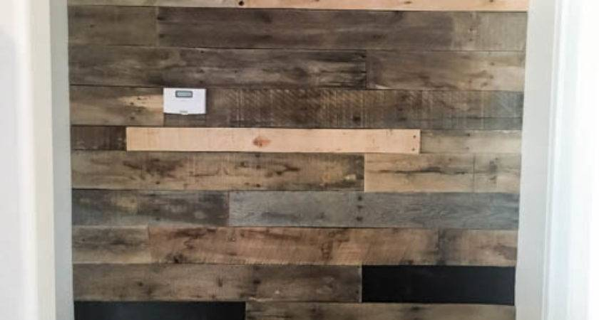 Install Pallet Wall Easy Way Addicted Diy