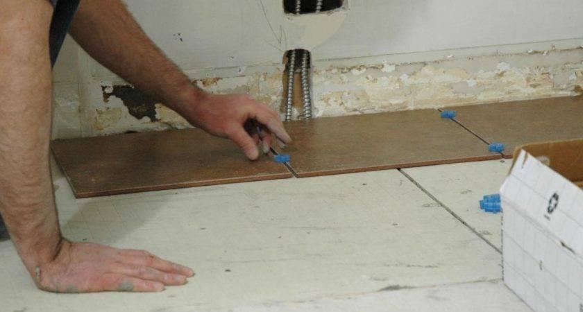 Install Tile Floor Kitchen Tos Diy