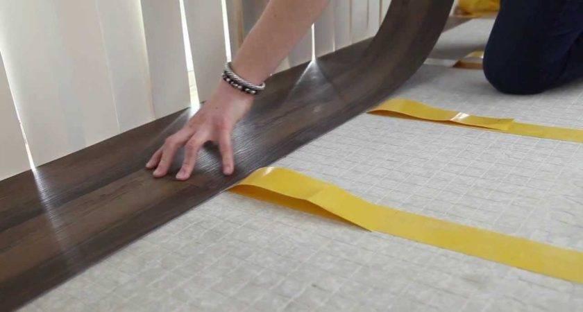 Install Vinyl Plank Flooring Using Double Sided