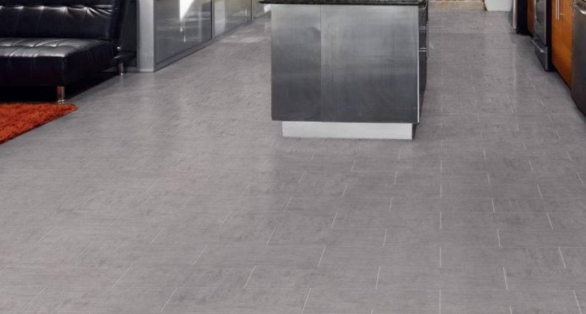 Install Vinyl Tiles Concrete Flooring Tile