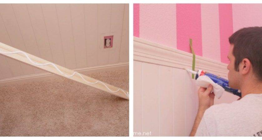 Install Wainscoting Pictured Tutorial