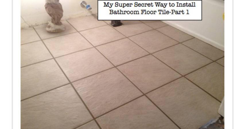 Installing Bathroom Floor Tile Install