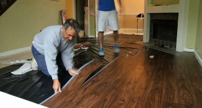 Installing Floating Allure Vinyl Plank Flooring Small