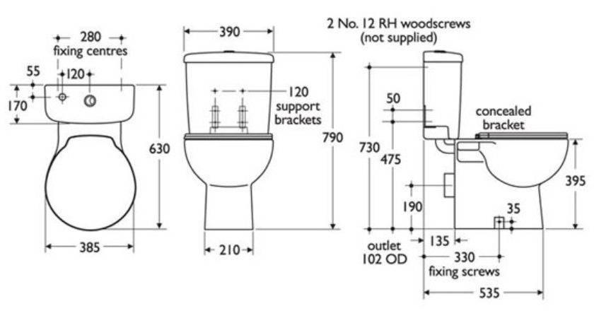 Interesting Ideas Standard Toilet Home