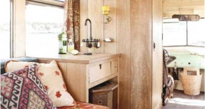 Interior Vintage Bus Conversion Rugged Liferugged Life