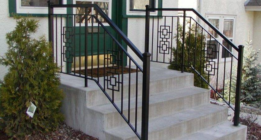 Iron Step Railing Inch Square End Posts