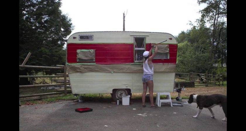 Jill Kyla Paint Their Trailer Youtube