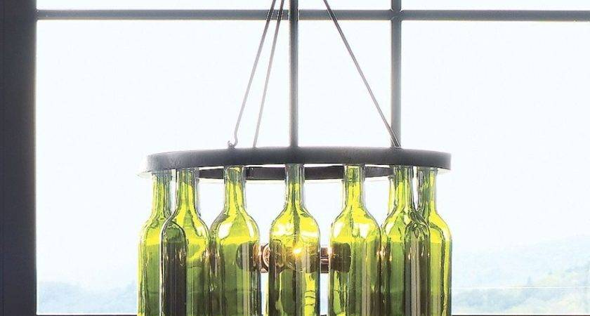 Junk Funk Wine Bottle Chandeliers Centerpieces