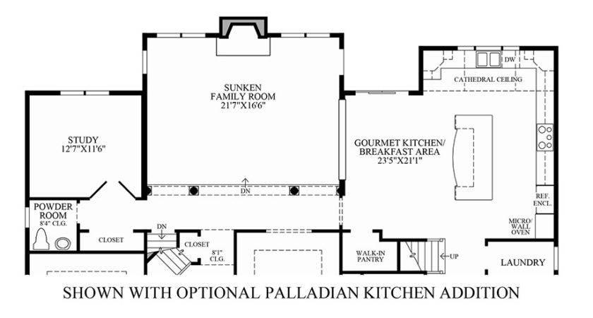 Kitchen Addition Floor Plans Wood Floors