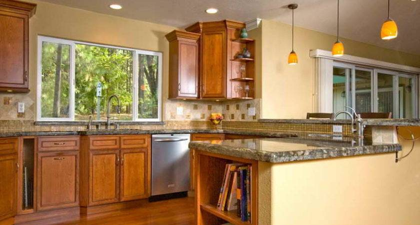 Kitchen Color Ideas Walls Wood Cabinet