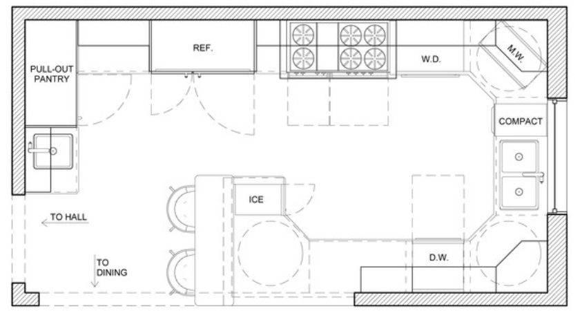 Kitchen Floor Plan Design Peenmedia