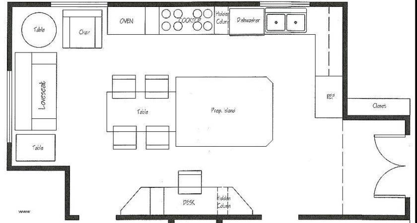 Kitchen Floor Plan Symbols Appliances New Impressive