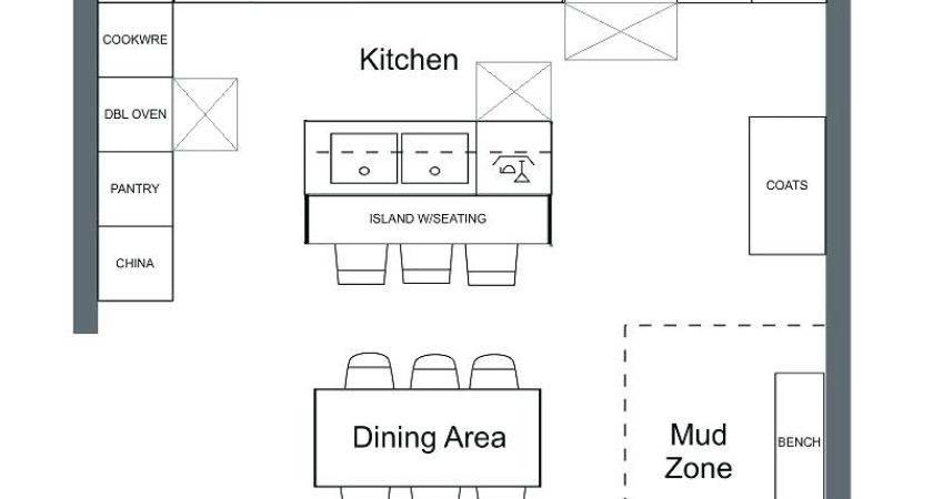 Kitchen Floor Plan Symbols Appliances Plans