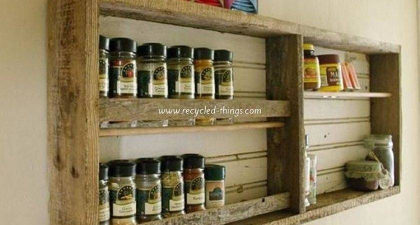 Kitchen Shelves Made Wooden Pallet Recycled Things