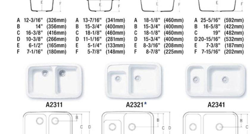 Kitchen Sinks Sizes Sink Standard