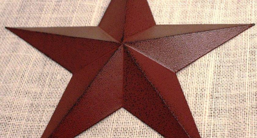 Large Metal Tin Barn Star Wall Decor Ship June