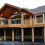 Large Roofed Decks Hamilton Massive Cedar Deck