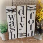 Laundry Room Decor Signs Set Rustic Pallet Wood