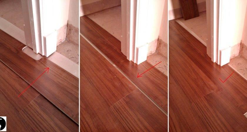 Lay Laminate Doorway Perfect Flooring