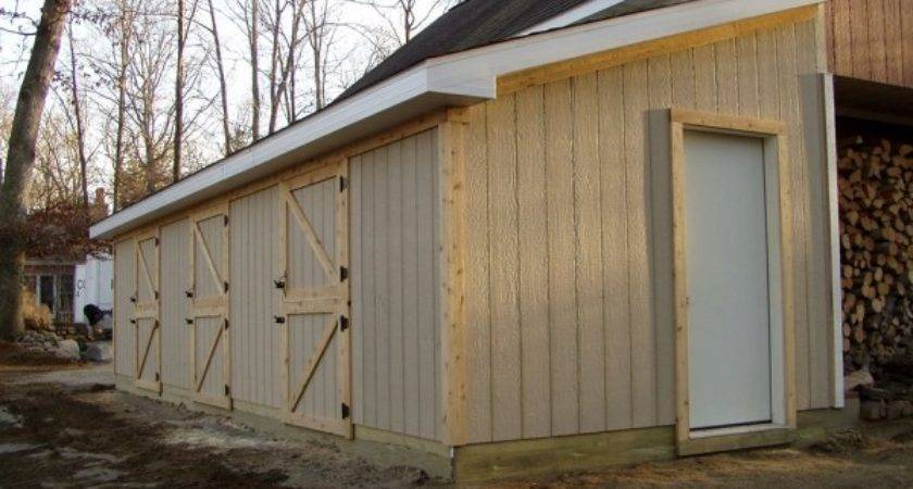 Lean Addition Project Custom Barn Construction