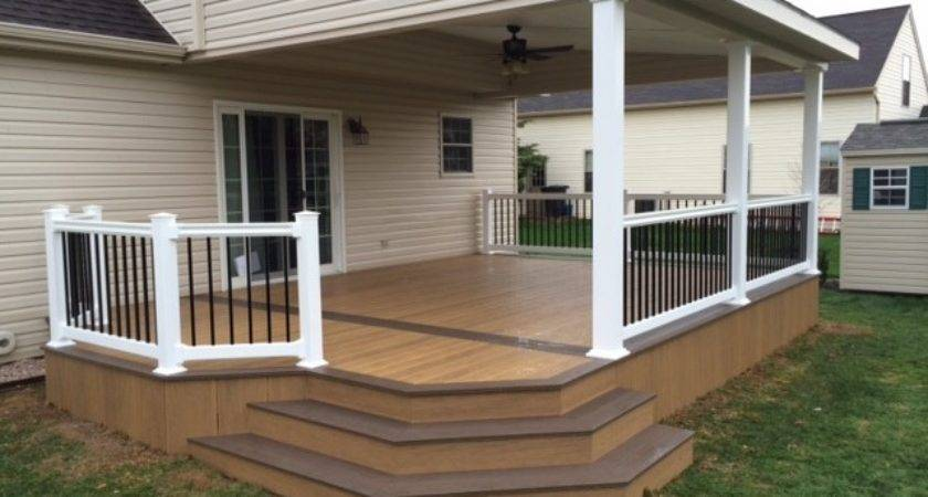 Lean Roof Over Two Toned Clubhouse Deck Modern