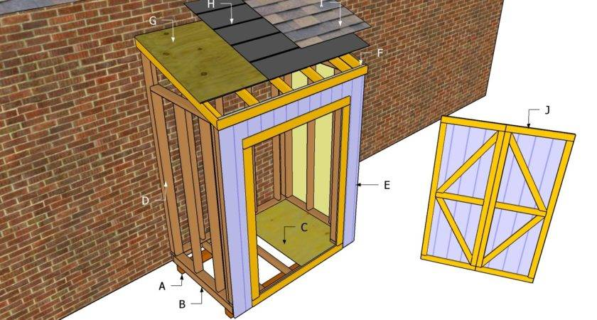 Lean Shed Design Plans Kits