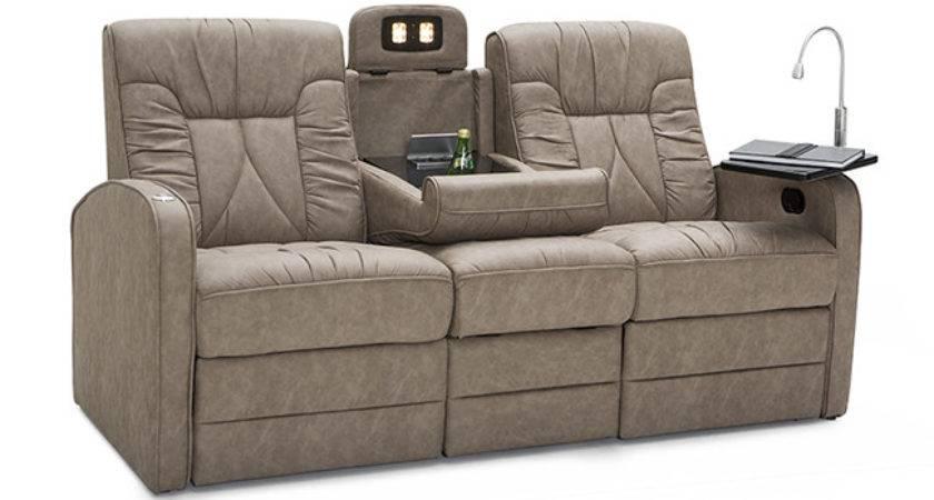 Leon Furniture Camper Manual Double Recliner Sofa