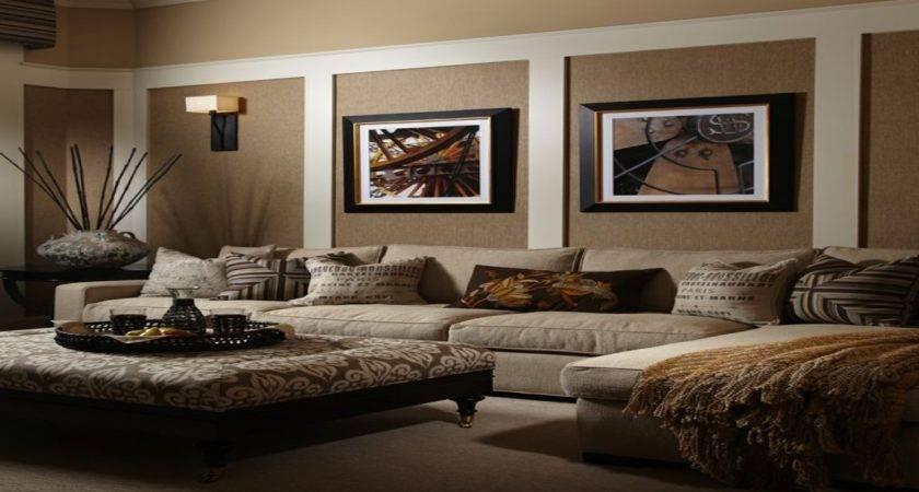 Lighting Living Rooms Brown Beige Room