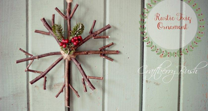 Lines Across Rustic Twig Ornaments