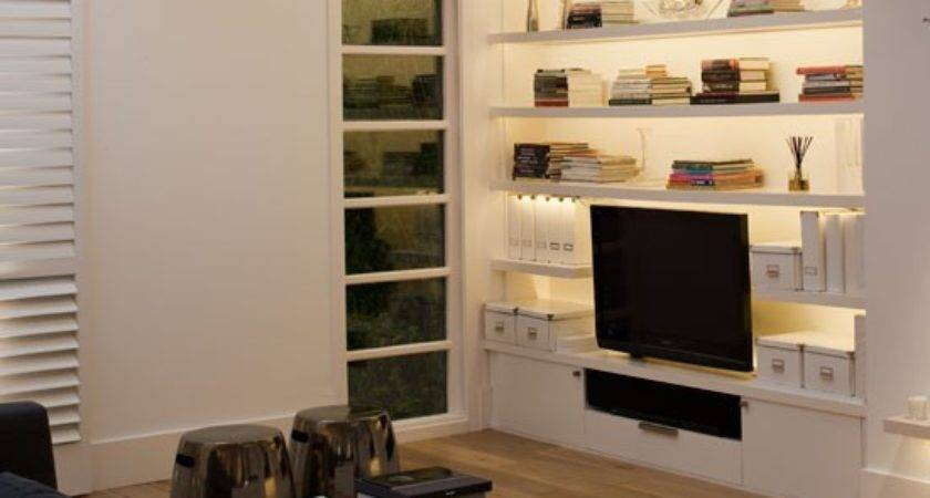 Living Room Built Storage Housetohome