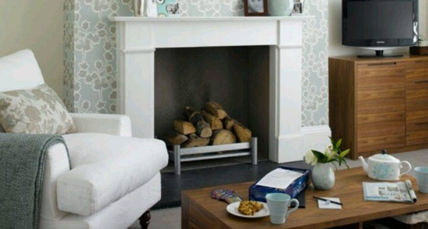 Living Room Comfy Small Fireplace Cozy
