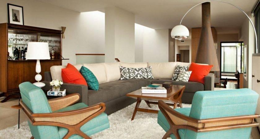 Living Room Minimalist Retro Interior Design Arco