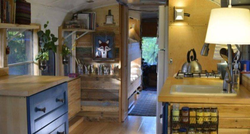 Living Simply Tiny Converted School Bus