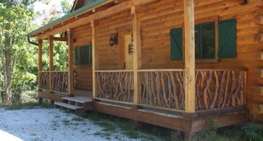 Log Cabin Deck Railing Mountain Laurel
