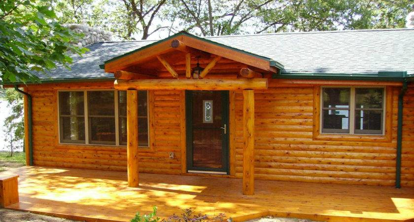 Log Cabin Double Wides Mobile Home Turned Into