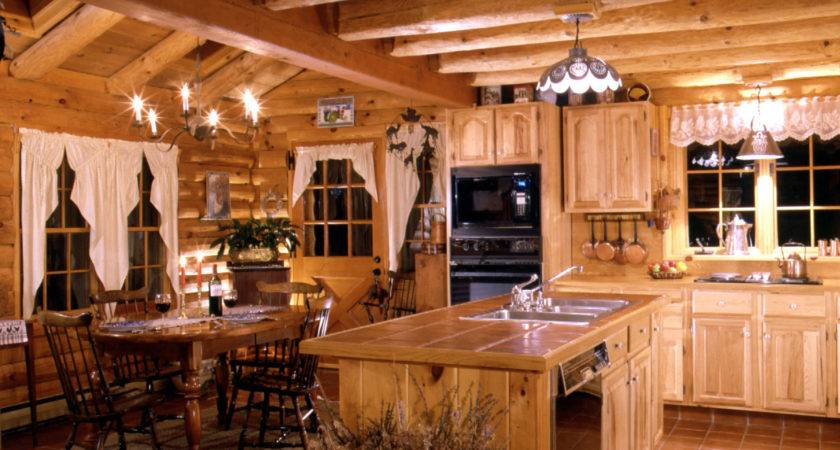 Log Home Kitchens Real Style