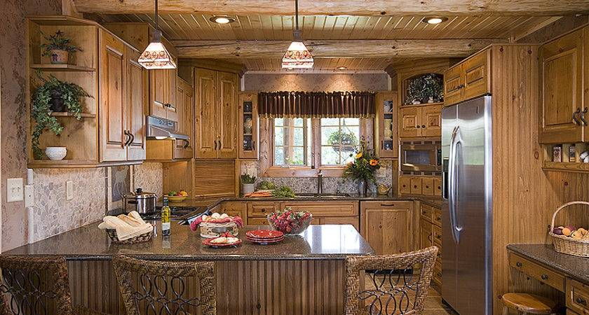 Log Home Photos Kitchen Dining Expedition Homes Llc