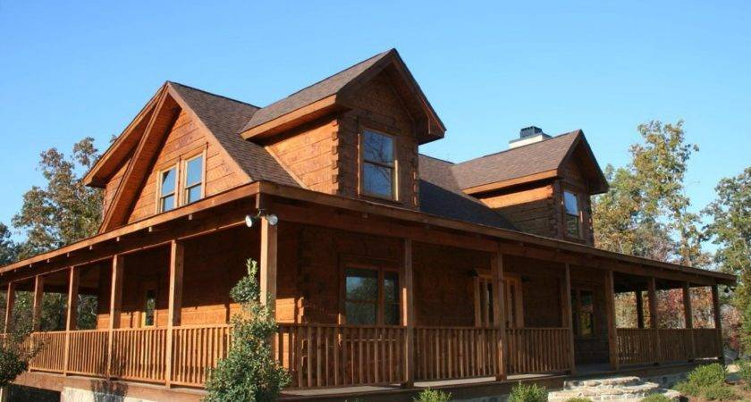 Log Home Plans Wrap Around Porches