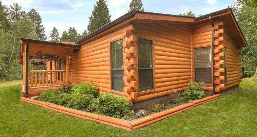 Log Siding Installed Manufactured Home Kelsey Bass Ranch