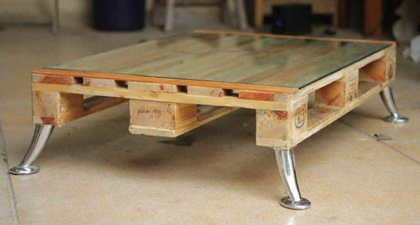Make Coffee Table Out Pallets Easily Home