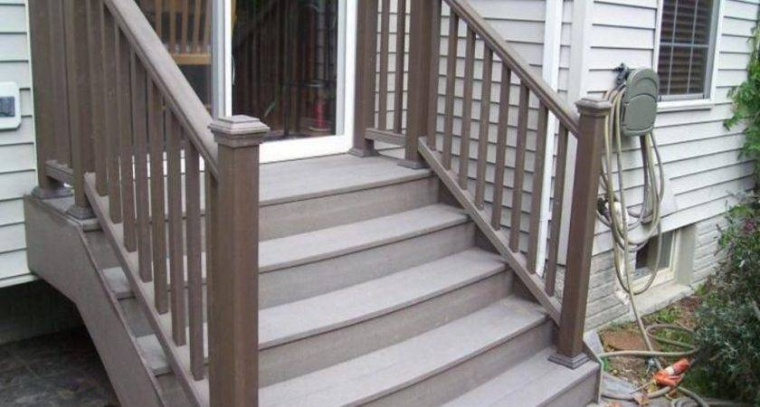Make Composite Deck Stairs Railing