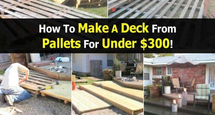 Make Deck Pallets Under
