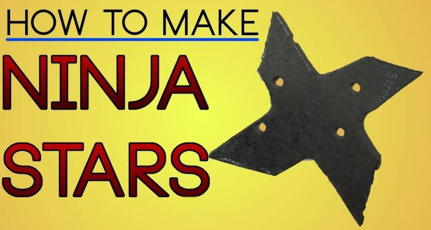 Make Metal Ninja Stars Youtube