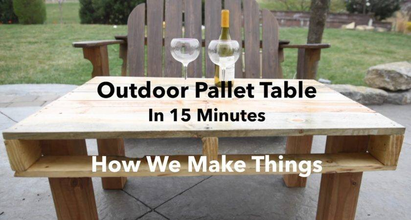Make Outdoor Pallet Table Minutes Diy