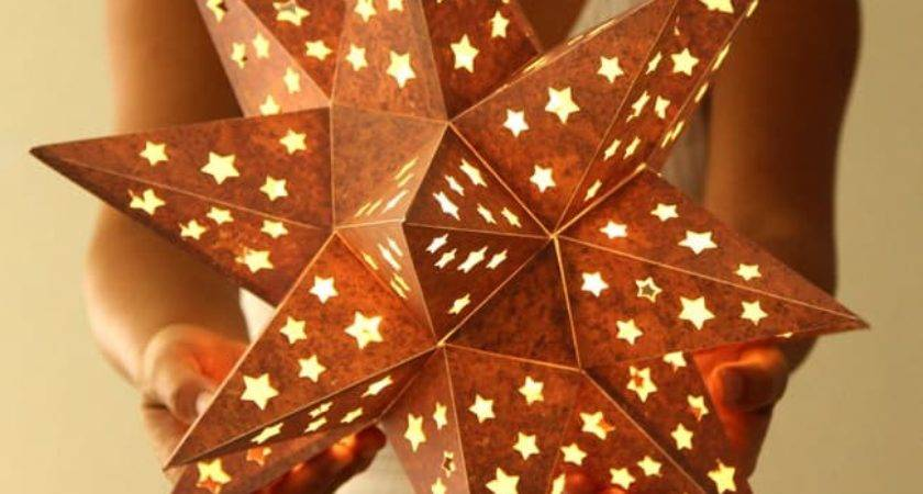 Make Paper Star Lantern Looks Like Metal