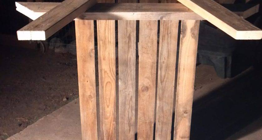 Make Picnic Table Out Pallets Quick Woodworking