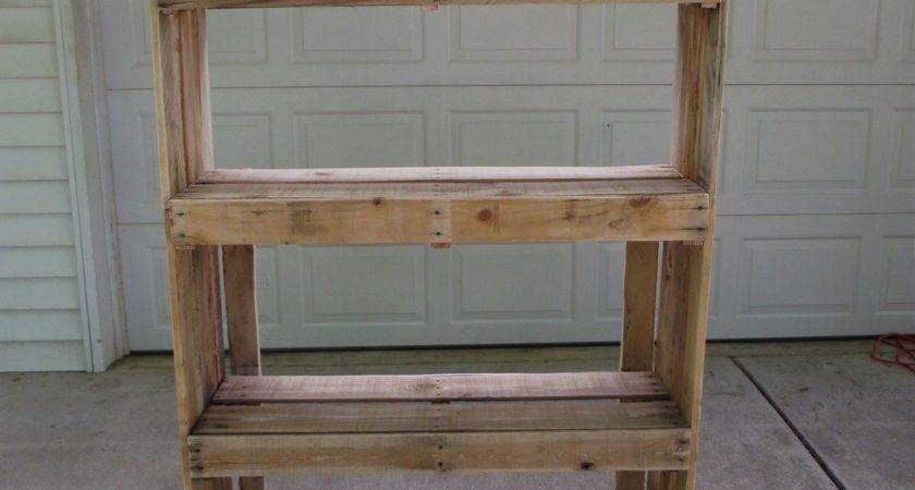 Making Storage Shelves Out Pallets Best Wood Working