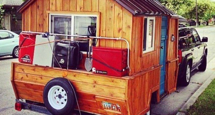 Man Converts Pop Trailer Into Micro Cabin Wheels